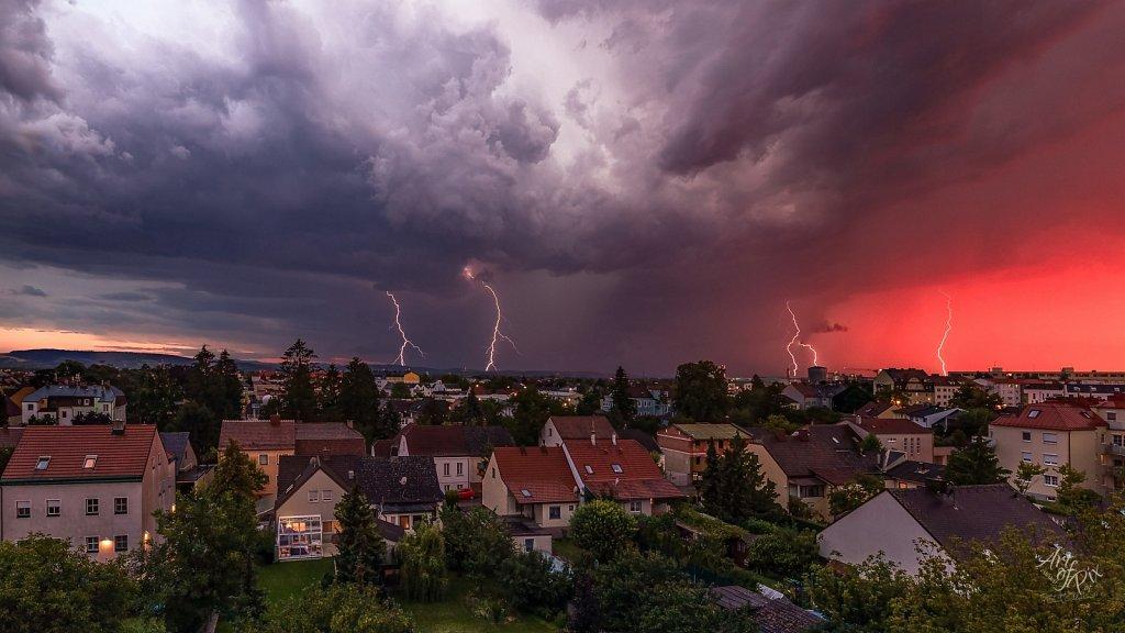 """Sundown Thunderstorm"""