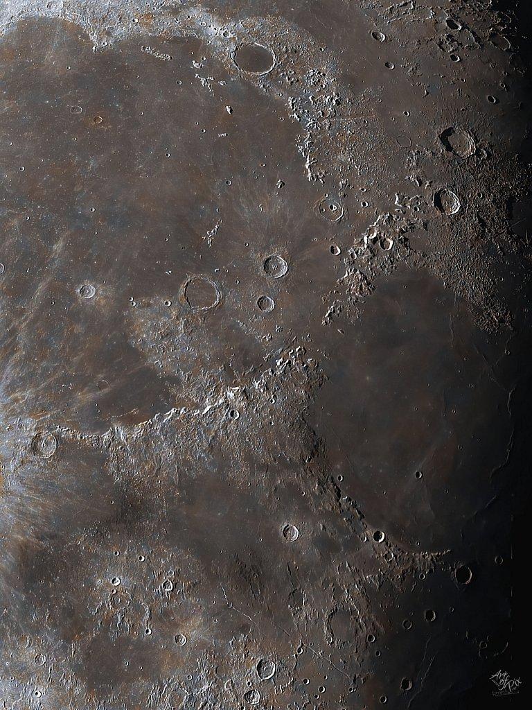 """""""Zoom to the moon"""" Part VII  - Mare Imbrium & Mare Serenitatis"""