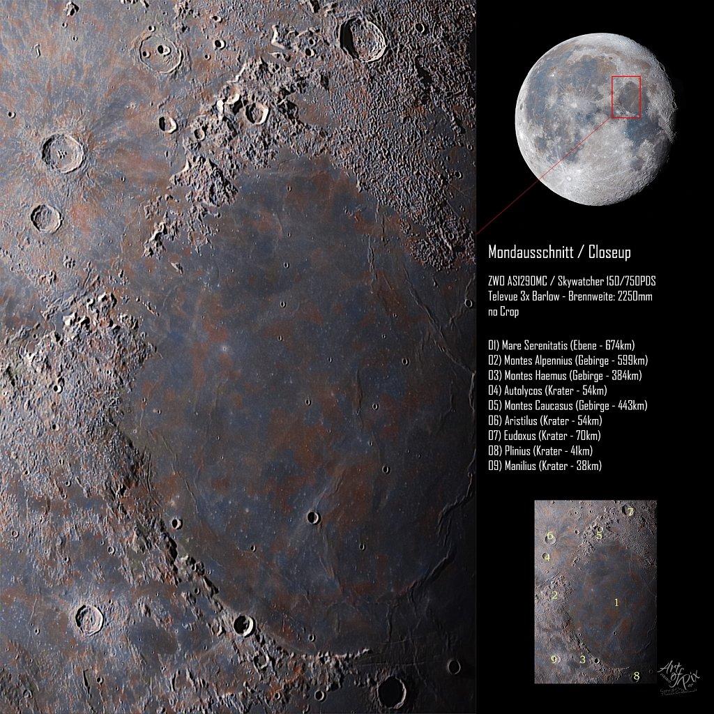 """Zoom to the moon"" Part VIII  - Mare Serenitatis"