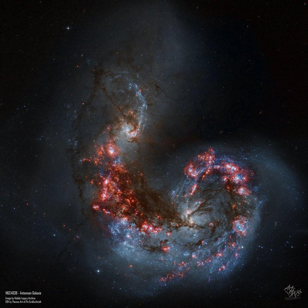 """NGC4038 NGC4039 - Antennen Galaxie (HLA)"""
